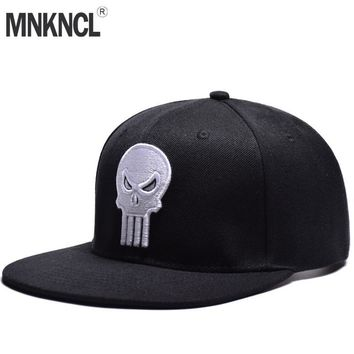 Trendy Winter Jacket MNKNCL High Quality Snapback Cap Skull Embroidery Brand Flat Brim Baseball Cap Youth Hip Hop Cap and Hat For Men and Woman AT_92_12