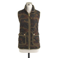 J.Crew Womens Excursion Quilted Vest In Camo