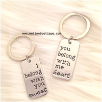 You Belong With Me/I Belong With You Key Chains