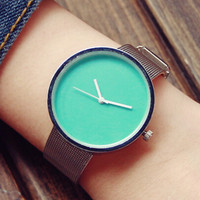 Summer Simple Style Stainless Steel Watch Gift - 523