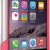 OtterBox iPhone 6 Case - Commuter Wallet Series, Frustration-Free Packaging - Neon Rose (Whisper White/Blaze Pink) (4.7 inch)