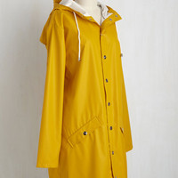 Ups and Downpours Rain Coat in Butterscotch