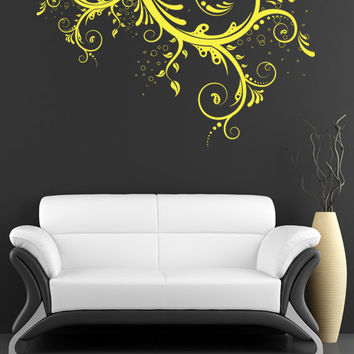 Abstract Floral Bubbles Flower Wall Decal Art Decor