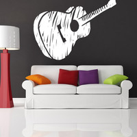 Vinyl Wall Decal Sticker Guitar Sketch #OS_MB919