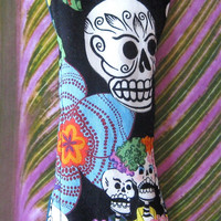 10 Inch Moderate to Heavy Cloth Pad, Reusable Menstrual Pad, Cloth Pad, Mama Cloth, CSP, Reusable Cloth Pad, FLP -  Day of the Dead