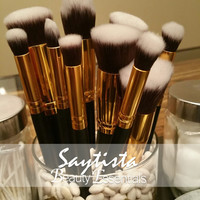 Professional Quality 10 piece Multifunctional Makeup Brushes