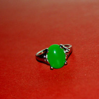 Green Cute Ring, Comes in 3 sizes, Free shipping included if coupon used