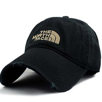 Vintage Embroidered The North Face Cotton Baseball Hat Black