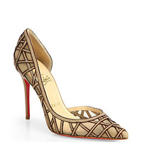 St. Honore Leather & Mesh Pumps