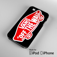 Logo Vans Off The Wall Shoes Red A1330 iPhone 4S 5S 5C 6 6Plus, iPod 4 5, LG G2 G3, Sony Z2 Case