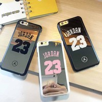 Chicago Bulls No.23 Jordan Basketball PC Cover Case For Apple iphone 6 6s luxury mirror electroplating PC phone case For iphone6
