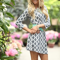 Midnight Lily Dress Gray