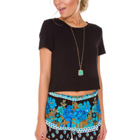Dakota Crop Top in Black