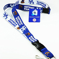 NCAA KENTUCKY WILDCATS ( 2-TONE ) TWO TONE KEYCHAIN, LANYARD