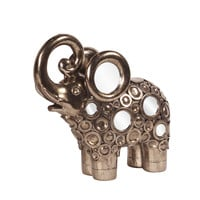Bronze with Mirrored Accents Elephant