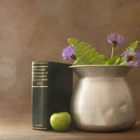 Vintage Large Aluminum Pot Spittoon Shaped Sticky Rice Steamer, Repurpose as a Flower Pot
