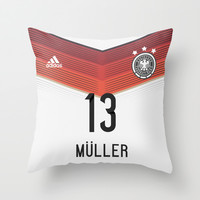 World Cup 2014 - Germany Müller Shirt Style Throw Pillow by Maximilian San