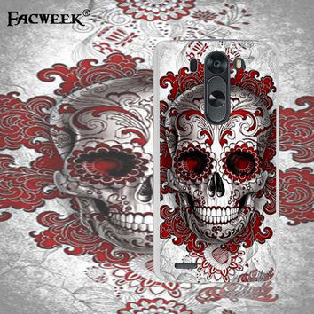High Quality Silicone Plastic For LG G3 MINI G3S Case For LG G3 MINI D722 D725 D728 D724 Skull Cell Phone Back Cover Case