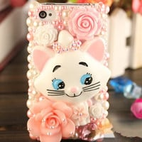 Pink Marie Cat Aristocrats Deco iPhone Samsung by AnnasPhoneCases