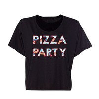 Pizza Party Women's Flowy Boxy Tank