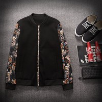 Korean Men's Fashion Print Winter Round-neck Jacket Hoodie [9070625219]