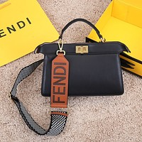 Fendi Women's Tote Bag Handbag Shopping Leather Tote Crossbody Satchel 29-12-19CM