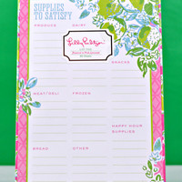 LILLY PULITZER: List Pad - Pink Lemonade
