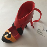 disney parks mrs. incredible resin shoe christmas ornament new with tag