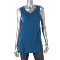 Current/Elliott Womens Juniors Slub Heathered Tank Top