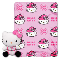Chicago Cubs MLB Hello Kitty with Throw Combo