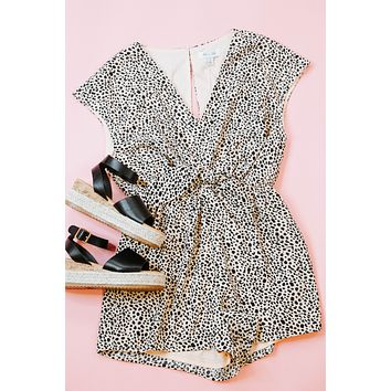 Wear Your Crown Romper, Peach Taupe