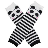 BONAMART ® Baby & Toddler Leg Warmers - Panda Black & White Stripe