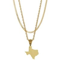 Mister State TX Necklace - Gold