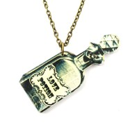 Love Potion Bottle Shaped Pendant Necklace in Acrylic | DOTOLY