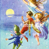 The Starlighters Downloadable, Printable, Reproduction Story Book Illustration Digital Art Image.Instant Download