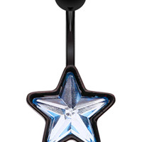 Beaming Star Belly Button Ring
