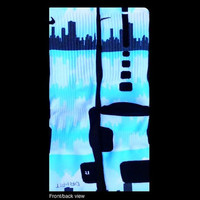 Chicago City Scene inspired by D.G. on Authentic Nike Elite Socks
