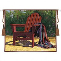 Fine Art Tapestries Red Chair Tapestry - Lamb - 3337-WH - All Wall Art - Wall Art & Coverings - Decor