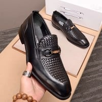 Ferragamo Men Fashion Boots fashionable Casual leather Breathable Sneakers Running Shoes Sneakers