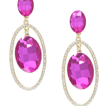Hot Pink Champagne Earrings