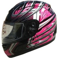 Adult Full Face Sports Motorcycle Helmet DOT (508) 169 Pink