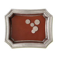 Pocket Change Tray with Leather Insert by Match Pewter