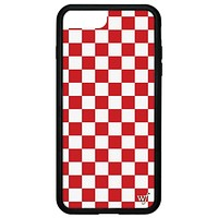 Red Checkers iPhone 6+/7+/8+ Plus Case