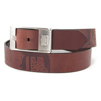 Detroit Tigers MLB Men's Embossed Leather Belt (Size 40)