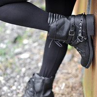 Fight For Love Combat Boots: Black | Hope's