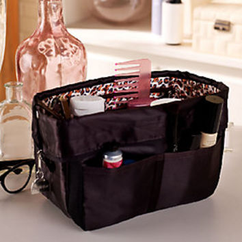 Pursfection Portable Purse Organizer w/ 12 Pockets & Zipper Closure — QVC.com