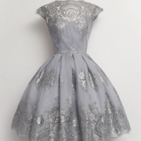 A-line Lace Short Homecoming Dresses