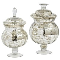 Mercury Glass Apothecary Jars