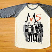 Maroon 5 T-Shirt Adam Levine T-Shirt R&B T-Shirt Rock T-Shirt Long Sleeve Tee Shirt Women T-Shirt Men T-Shirt Baseball T-Shirt S,M,L