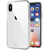 ONETOW iPhone X Case, Kroma [Prismatic Series] Crystal Clear iPhone X Case, 99.9% Transparency, Clear back panel + TPU bumper